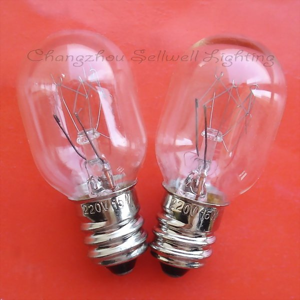 Купить с кэшбэком New!miniature Light Lamp 220v 15w E12 T20x45 A659