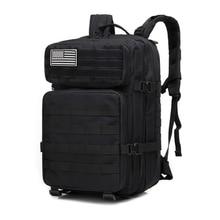 45L Outdoor Military Camouflage Backpack Assault Tactical Infantry Rucksack Sports Camping Hiking Bag Backpacks сито regent inox pronto с пластиковой ручкой цвет стальной красный диаметр 12 см