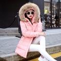 Зимняя куртка женщин манто femme пальто parka пальто женские куртки и 2016 меха jaqueta feminina мода вниз длинные парки для новый