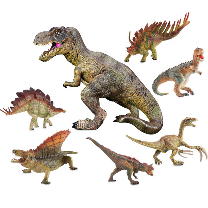 1 Pcs 16 types World Dinosaur Toy Plastic Play Toys Dinosaur Model Action & Figures Best Gift for Boys Toy Model Kids Gifts