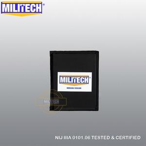 "Image 2 - MILITECH Ballistic Panel BulletProof Plate Side Insert 6"" x 8"" Pair NIJ Level 3A & NIJ 0101.07 Level HG2 Aramid Soft Body Armor"
