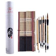 8 adet çin geleneksel fırça seti boyama manzara cetvel kalemi yazma kaligrafi boya fırçası