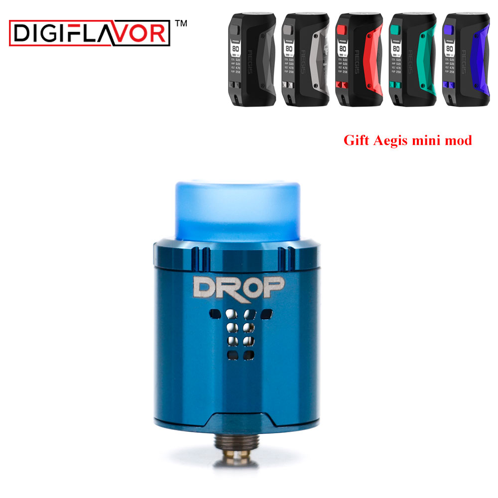 Free gift Digiflavor Drop RDA BF squonk 510 pin 24mm electronic cigarette tank with Aegis mod post-holes airflow AtomzierFree gift Digiflavor Drop RDA BF squonk 510 pin 24mm electronic cigarette tank with Aegis mod post-holes airflow Atomzier