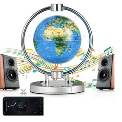 2019 Magnetic Suspension Bluetooth Speaker 360 ° Rotating Earth Floating Globe World Map with Colorful LED Light Home Audio