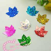 maple leaf sequins plastic material paillette for decoration 22*22mm 100pcs/lot