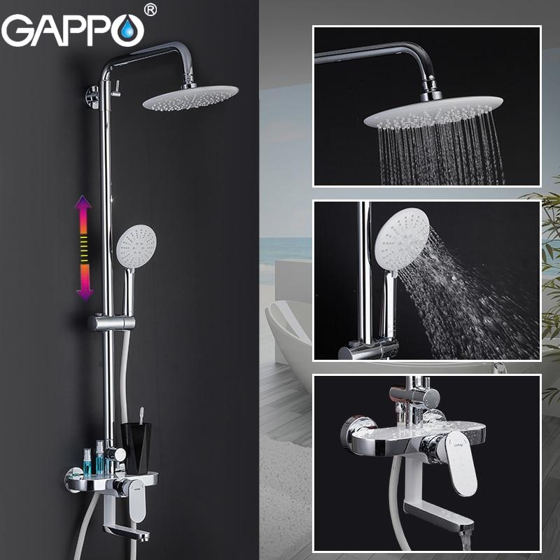 GAPPO Shower Faucets bath shower mixer white chrome bathroom shower faucet bathtub faucet bath mixer shower