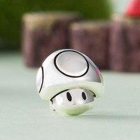 Cute Super Mario Mushroom Ear Stud Earrings 925 Silver Gift Girl Women Ear Nail Gift Jewelry Accessories Cosplay