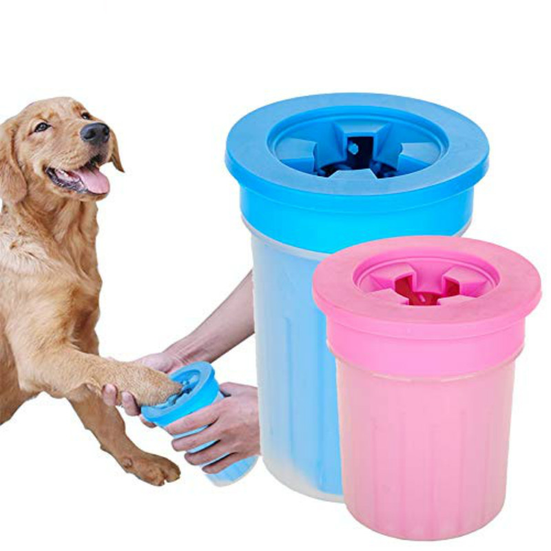 Pet Cats Dogs Foot Clean Cup for Dogs Cats Cleaning Tool Soft Plastic Washing Brush Paw
