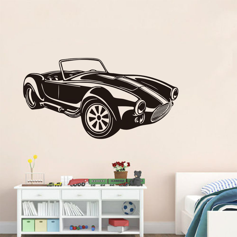 Classic Racing Car Wall Decals Vinyl Large Wall Sticker Mural ...