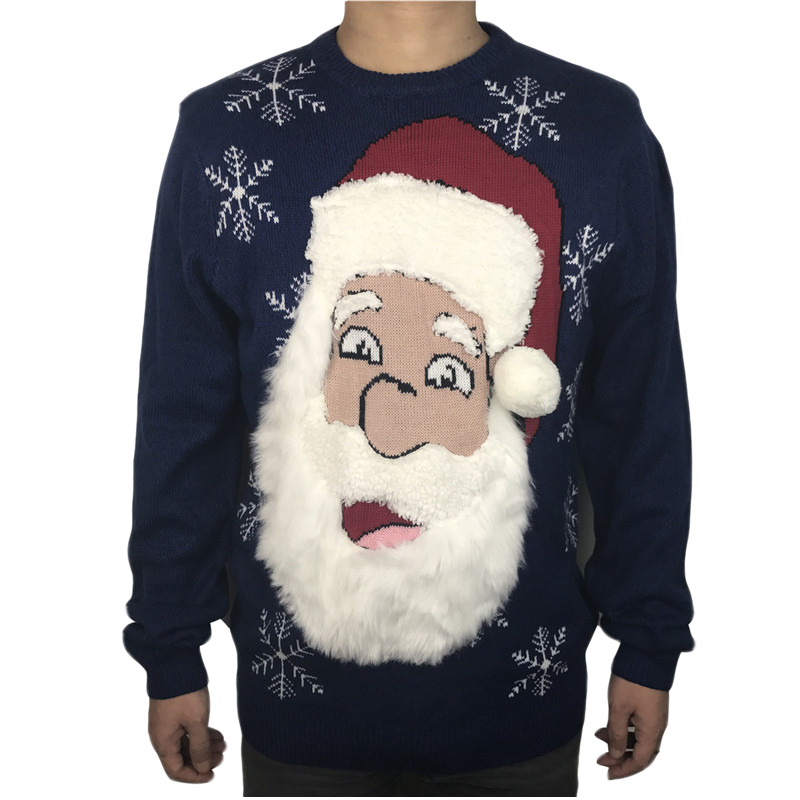 Star Wars Ugly Sweater Design Funny Christmas Long Sleeve Mens Tee