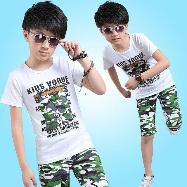 88e5f2b1b Boy Sets New Children s Wear Short Sleeve T Shirt+ Pant Summer ...