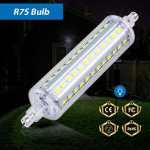 цены R7S LED Lamp Bulb 220V Flood Light 78mm 118mm Bombillas LED Corn Bulbs LED 2835 Horizontal Plug lamps 135mm 189mm Halogen Lights