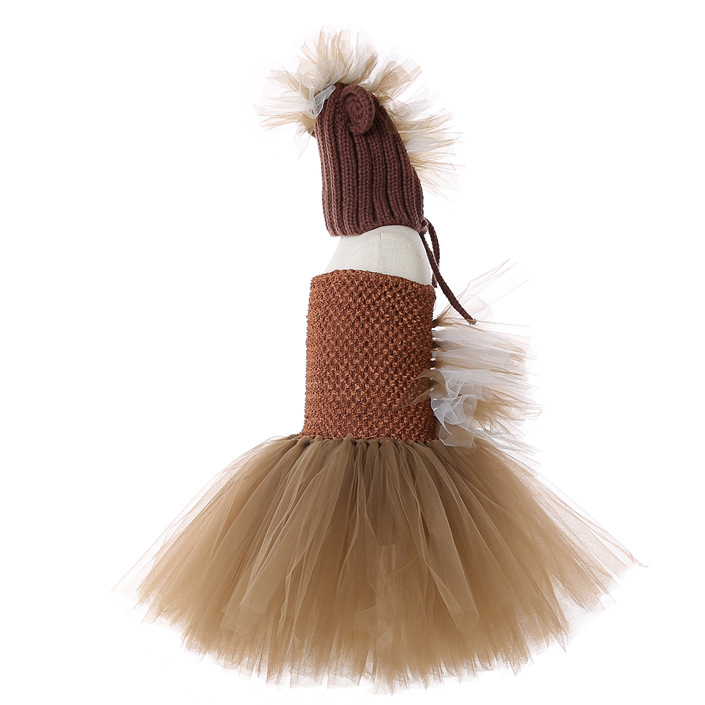 Little Horse Tutu Christmas Dress for Girl Dress Spring Girl Tulle Knee Length Dress with Hat Girls Animal Pony Unicorn Dress 8Y (7)