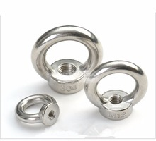10pcs M3 M4 M5 M6 M8 Eye Nut Stainless Steel Marine Lifting Eyenut Ring Loop Hole for Cable Rope