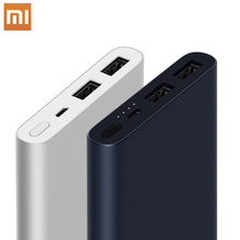 Оригинальный Xiaomi mi power Bank 2 18 Вт 10000 мАч Быстрая зарядка Dual-USB Alu mi nium power bank быстрое зарядное устройство Портативный внешний аккумулятор