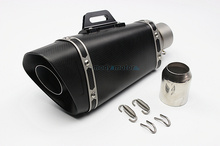 MGOD Motorcycle dirt bike exhaust escape Modified Scooter akrapovic Exhaust Muffle Fit for most motorcycle carbon