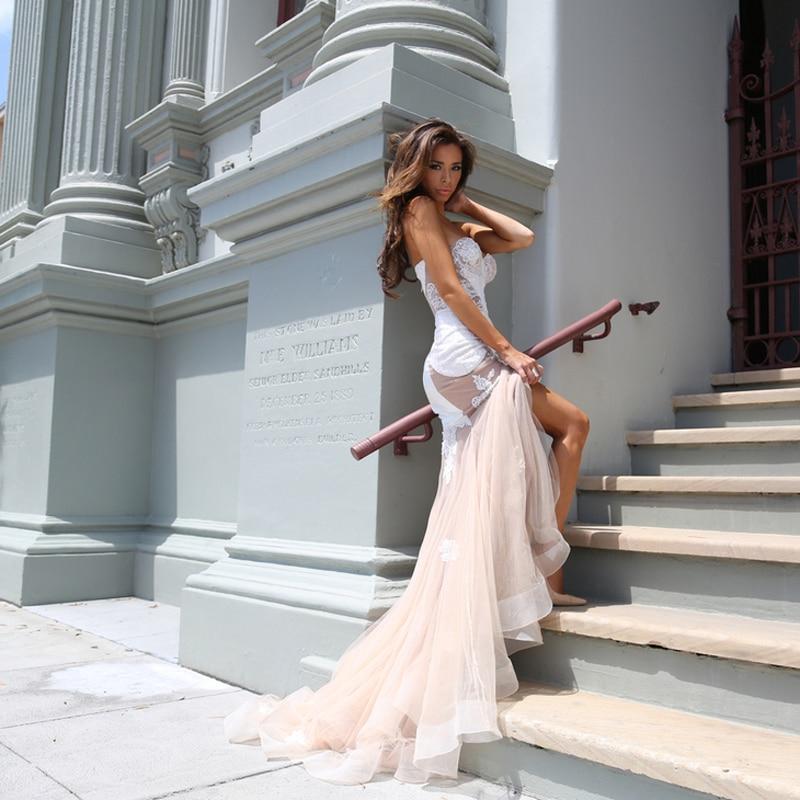 Fashion Mermaid Sweetheart Embroidery Beads Appliques Court Train Vestidos De Novia Elegant Bridal Gowns