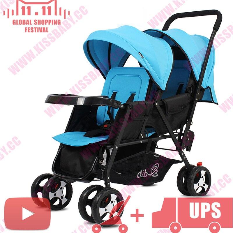 foldable Peg Perego Duette twin baby font b stroller b font Joovy Big Caboose poussette