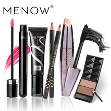 MENOW Marca Make up set Mascara & Eyeliner & CC Creme & Lip Gloss & Sobrancelha Value Pack venda quente Cosméticos combinação 5313(China)