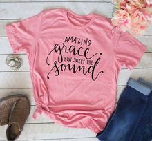 Christian T-Shirt Amazing Grace How Sweet the Sound