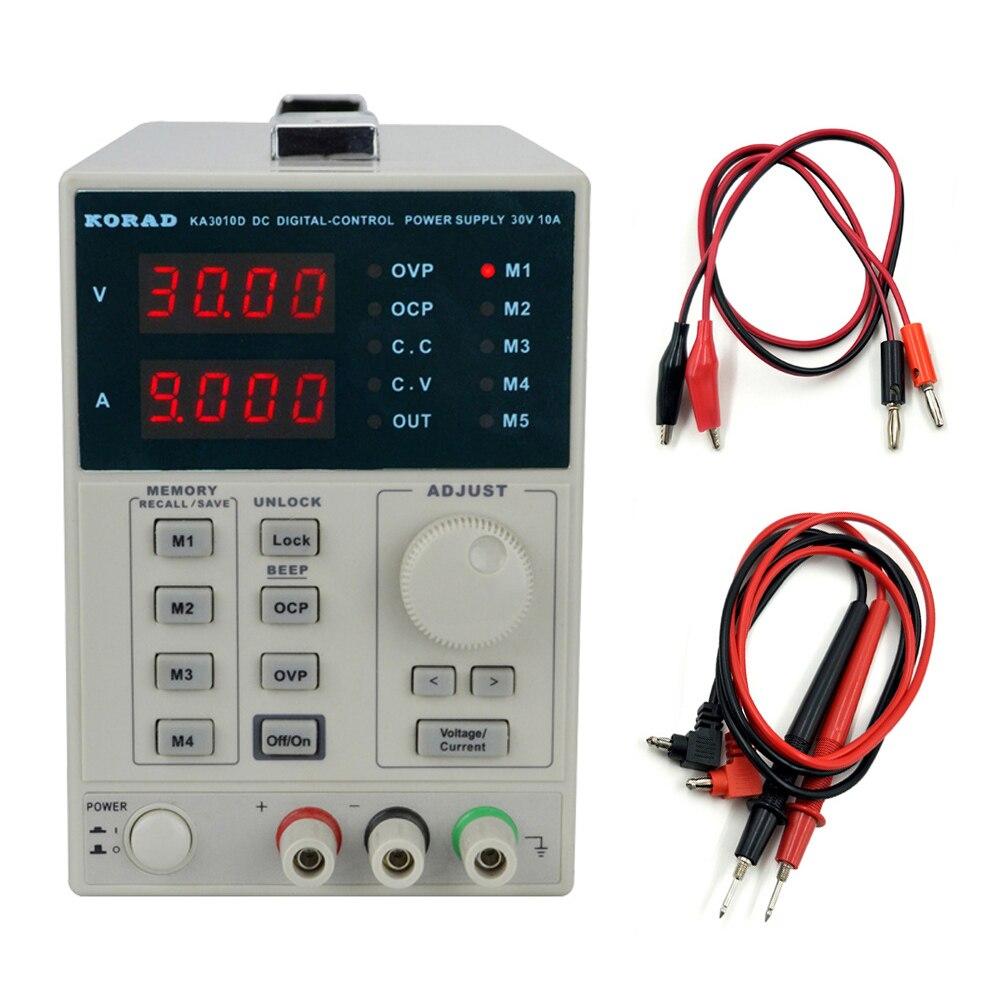 KORAD KA3010D précision Variable réglable 30 V, 10A 0.01V 0.001A alimentation linéaire cc classe de laboratoire régulée numérique