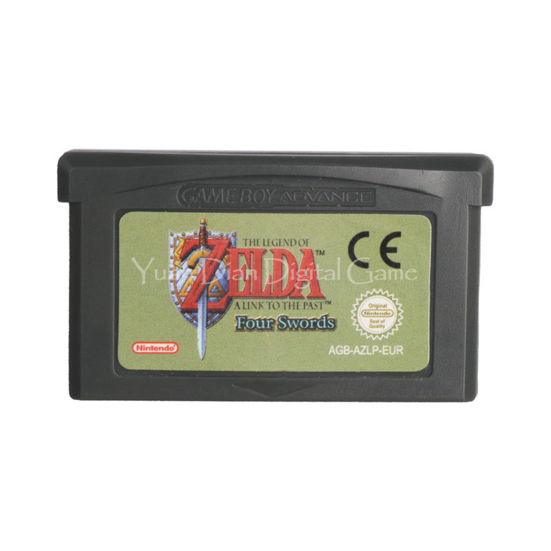 Nintendo GBA Video Game Cartridge Console Card The Legend of ZELDA A Link To The Past Four Swords ENG/FRA/DEU/ESP/ITA Language [50set lot] for nintendo gameboy series game cartridge housing shell replacing cover case for gb gbc gba sp