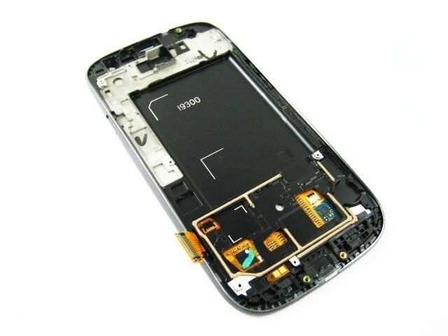 Замена Полный AMOLED Дисплея LCD + Сенсорный Экран Digitizer + Рамка для Samsung Galaxy S3 SIII GT-i9300 i9300 Красный