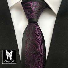 2015 TOP designer necktie black border with red classic paisley ties to match shirt dress