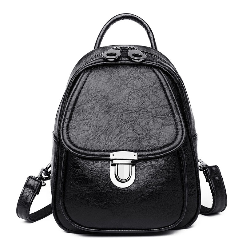 Women Backpacks Women's Soft Leather Backpacks Female School Shoulder Bag For Teenage Girls Travel Backpack