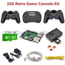 Raspberry Pi 3 Model B 32GB RetroPie Game Kit with Wireless Controllers Gamepad Joypad Joystick