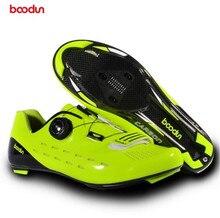 Boodun Professional Road Bike Shoes Carbon Cycling Bicyle Men Outsole Self-Locking