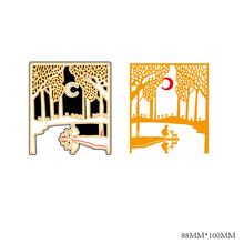 AZSG Beautiful night Cutting Dies For DIY Scrapbooking Decorative Card making Craft Fun Decoration 8.8*10cm