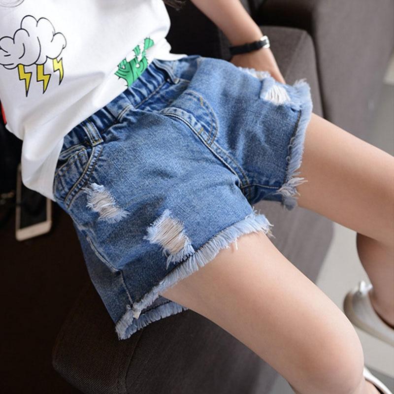 Купить джинсовые шорты для девочек летние хлопковые и мальчиков одежда