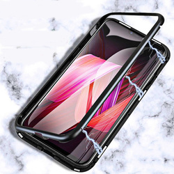 На Алиэкспресс купить стекло для смартфона built-in magnet case for oneplus 6 6t tempered glass magnetic adsorption metal ultra cover bumper