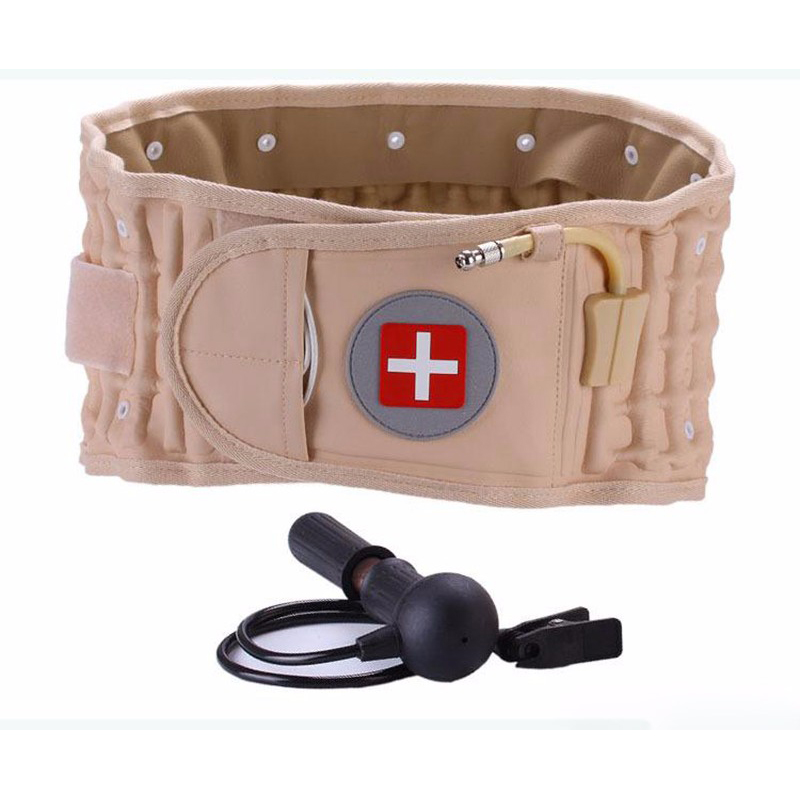 Back Massager Spinal Air Traction Belt Physio Decompression Back Belt Back Brace Back Pain Lower Lumbar Support Waist  Massage hailicare back relief belt waist brace support belt lumbar traction backach waist brace pain release health massager health care