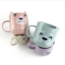 yooap Washing Cup Suspended Home Cute Cartoon Plastic Mouth Brushing Simple Fashion