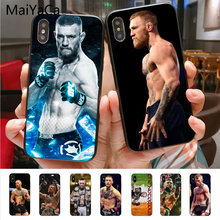 Maiyaca Conor McGregor UFC Novelty Fundas Phone Case Cover UNTUK iPhone 8 7 6 6S Plus X XS XR xsmax 10 5 5S SE Coque Shell(China)