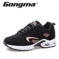 Gongma New Brand Sneakers Women Leather Running Shoes Cushion Gym Shoes Sport Woman Wear Resistance Walking calzado mujer Shoe
