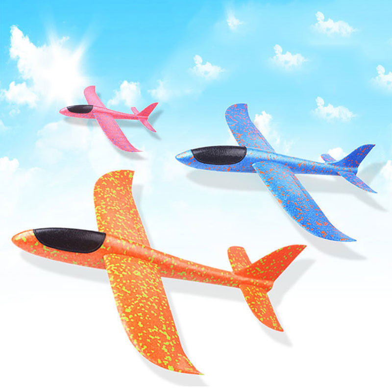 Foam Throwing Glider Air Plane Inertia Aircraft Toy Hand Launch Airplane Model Outdoor Sports Flying Toy For Kids Children Boy