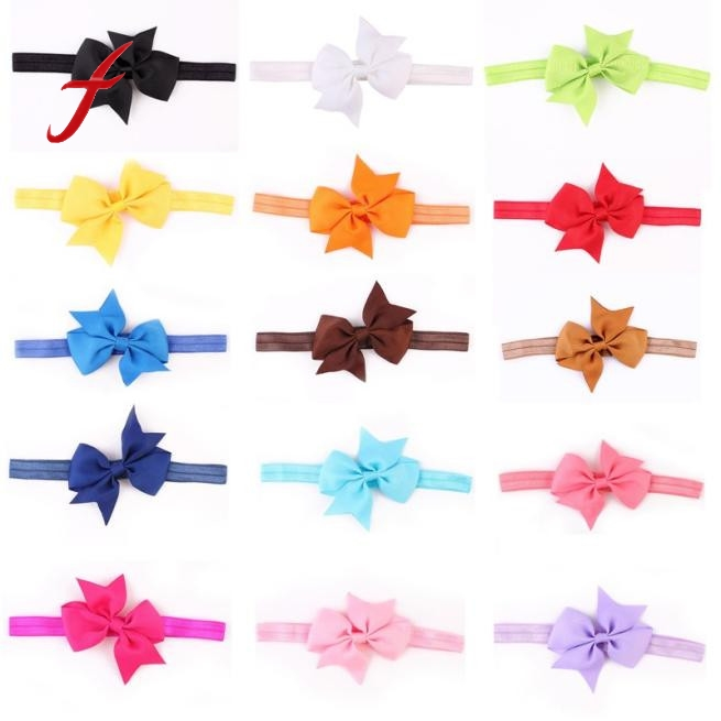 2017 elastic hair bands for girls Bow tie hairbands menina hair accessories for girls headband headbands high quality 2018 new headbands for women print chiffon boho ethnic style elastic hairbands lady hair ornament holder hair bands accessories
