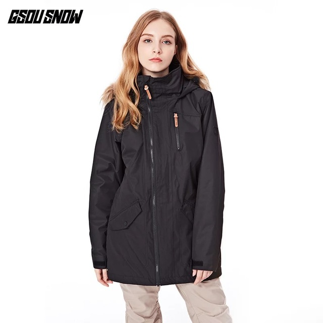 0fd619640 US $151.0 |GSOU SNOW New Ski Jacket Women Anti pilling Snowboard Coats  Waterproof Fashion Windproof Female Ski Jackets Breathable Cotton-in Skiing  ...