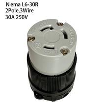 Ons Nema L6 30R Anti Drop Industriële Vrouwelijke Groungding Vergrendeling Connector Socket 2 Pole 3 Draad Elektrische Plug 30A 250V
