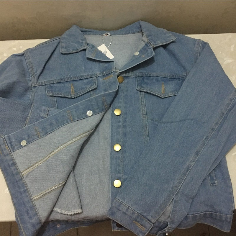 Manteaux Femmes Automne Coupe Clair Veste Denim Dames vent Femelle Épais Jeans Hiver Bleu Printemps Coton Bomber Blouson 5Wvwf60n