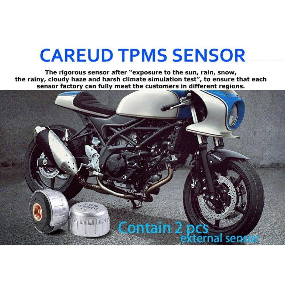 CAREUD étanche à la foudre général sans fil TPMS système de surveillance de la pression des pneus de moto moteur de moto à deux roues