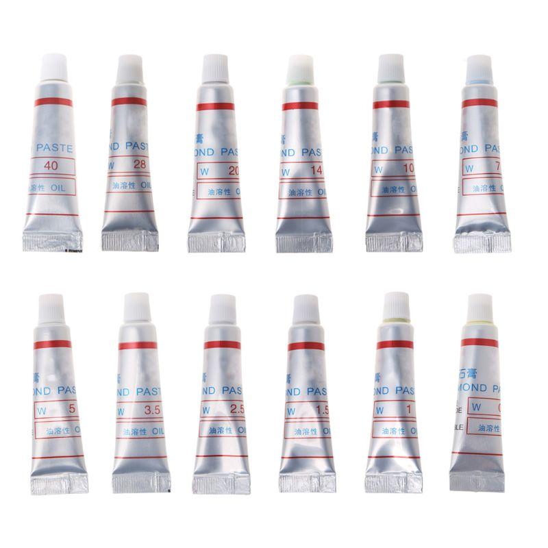2Pcs Grit 320-10000 W0.5-W40 Diamond Abrasive Paste Needle Tube Grinding Polishing Lapping Compound Glass Metal Tool Micron Tool