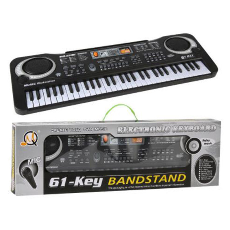 Electronic Organ Toys For Children Gifts 61 Keys Digital Piano Keyboard With Microphone Kids Montessori Music Educational Toys