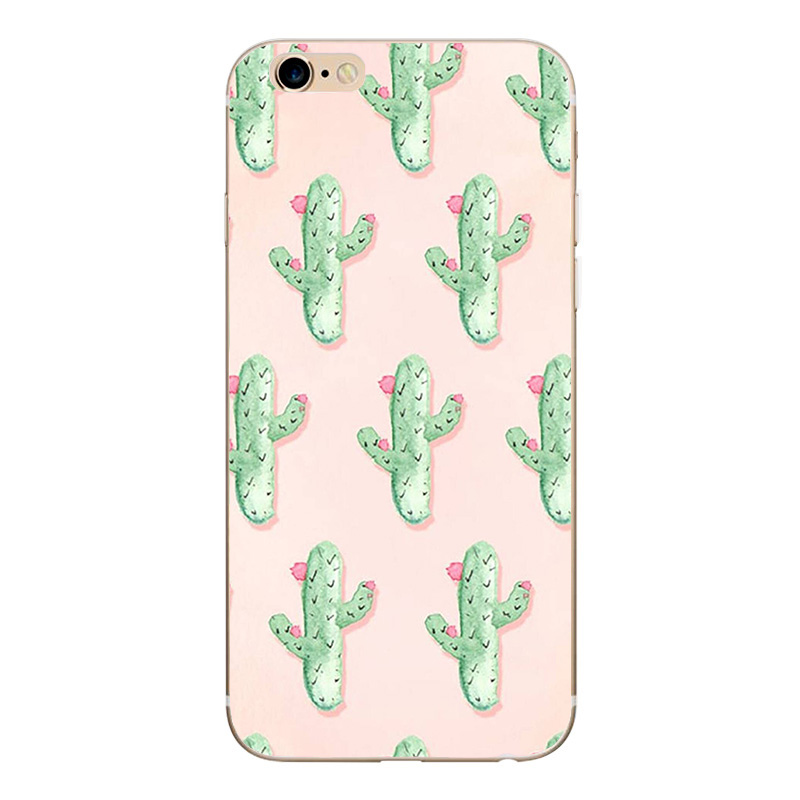 Cute Silicon Case For iPhone 7 Case Floral Printed Cases For iPhone X S 8 plus 7 Plus 5 SE 5s Soft TPU Cover Kitty Capa Capinha
