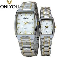 ONLYOU Brand Quartz Watches For Luxury Women Watch 2016 Stainless Steel 30M Waterproof Business Lover's Role Watch Men 8893
