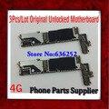 3 pçs/lote original desbloqueado 4 4g placa principal para iphone 4 4g motherboard com batatas fritas, 16g & 100% bom trabalhando frete grátis