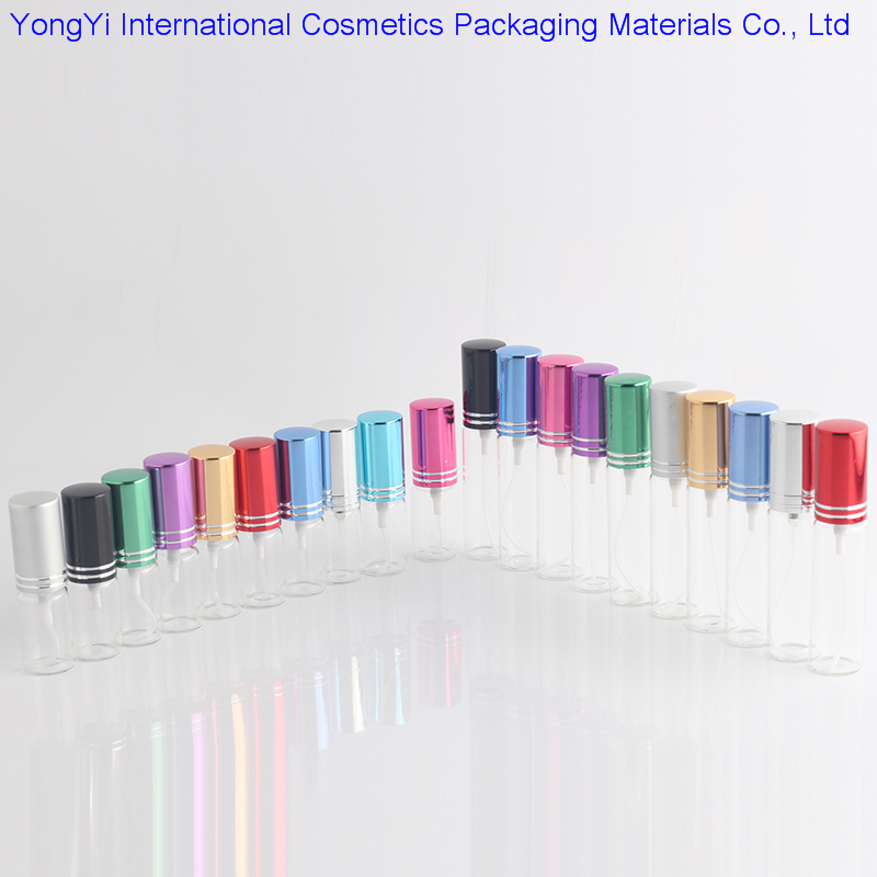 B391 5pcs  5ML 10ML Mini Portable Colorful Glass Perfume Bottle With Aluminum Atomizer Empty Cosmetic Containers For Travel 6pieces lot 8ml mini portable colorful glass perfume bottle with atomizer empty cosmetic containers for travel